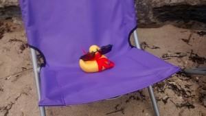 Beryl sunbathing